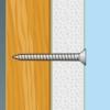 Kép 2/2 - Gipszkarton csavar fa menetes - 3,5 x 55 mm - 50 db / csomag