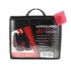 Kép 2/2 - Autós üléshuzat szett - piros / fekete - 9 db-os - HSA002