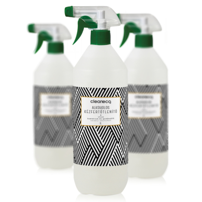 Cleaneco Alkoholos kézfertőtlenítő virucid 1l szórófejjel