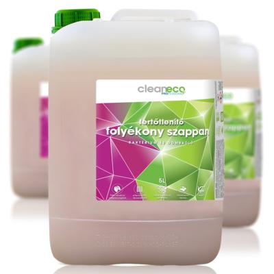Cleaneco Fertőtlenítő Folyékony Szappan 5L - újrahasznosított csomagolásban