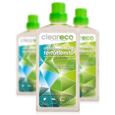Cleaneco Általános Felület Fertőtlenítő 1L - komposztálható csomagolásban