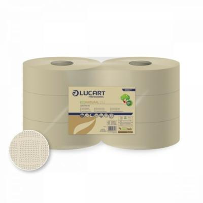 Lucart EcoNatural 23J  Jumbo Toalettpapír (wc papír) 2 RÉTEGŰ 826 LAP / TEKERCS 6 DB/ CSOMAG