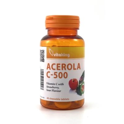 Acerola C-500 rágótabletta epres ízben
