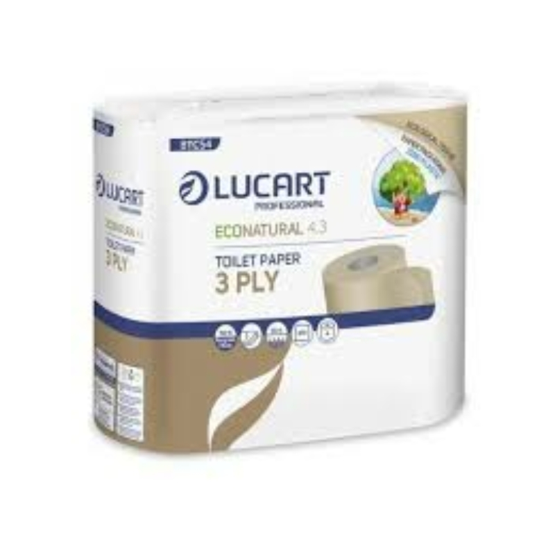 Lucart Econatural Újrahasznosított Wc papír 3 rétegű