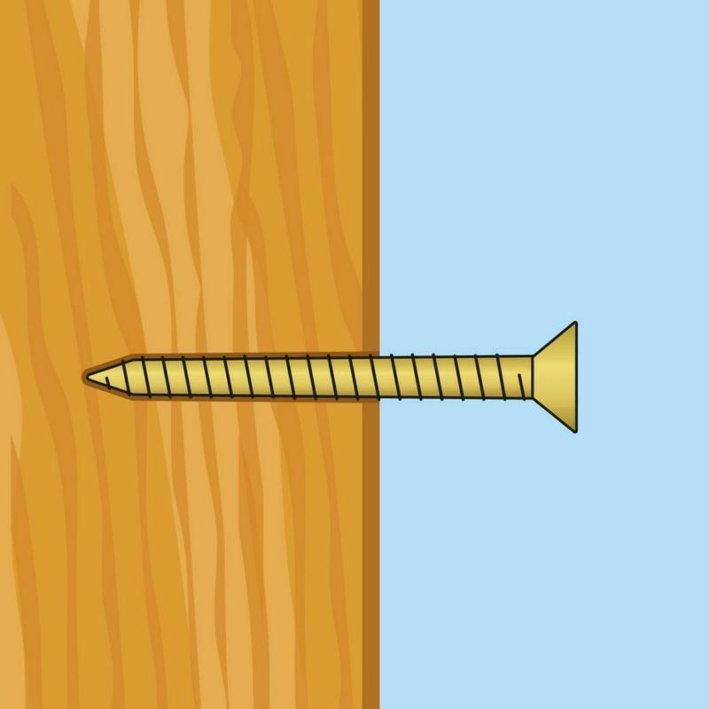 Forgácslap csavar - sárga - 3 x 16 mm - 100 db / csomag