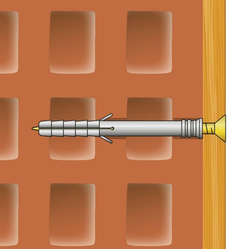 Tipli + csavar - 10 x 80 mm - 10 db / csomag