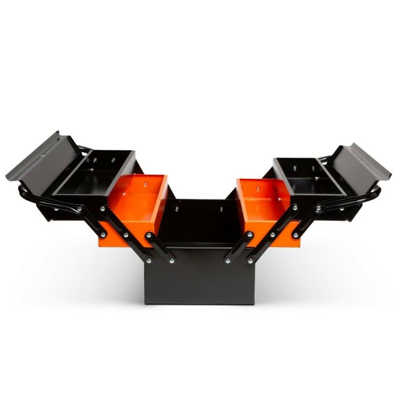Fém szerszámosláda - szétnyitható - 430 x 210 x 200 mm