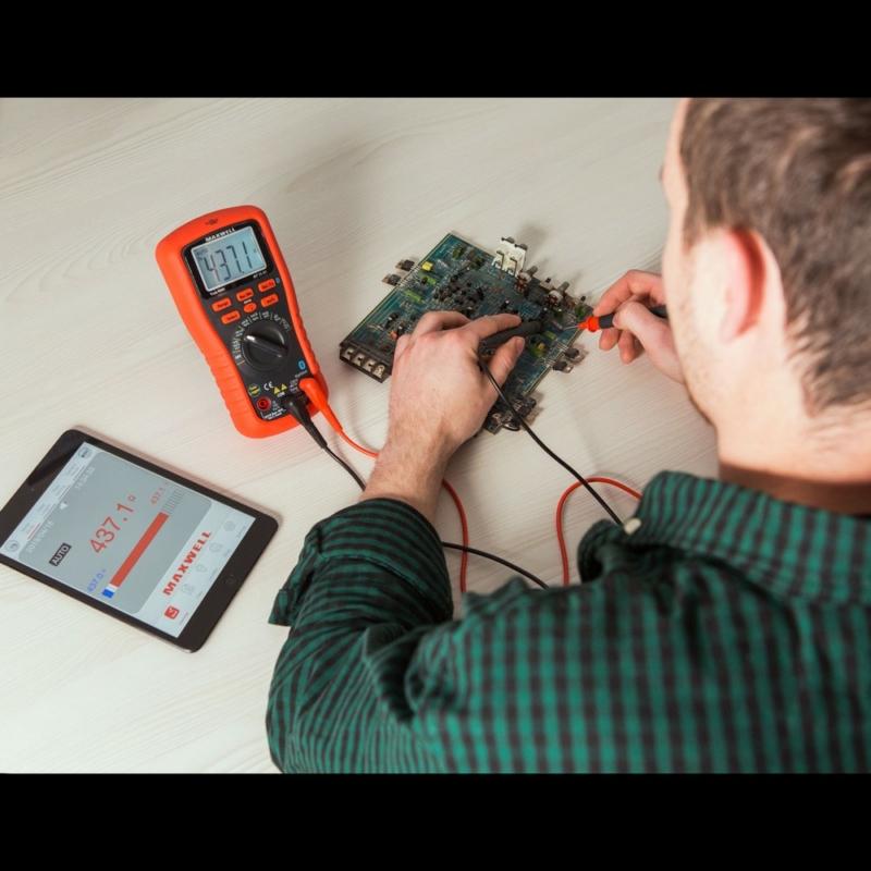Smart, digitális multiméter - Bluetooth, LED háttérvilágítás