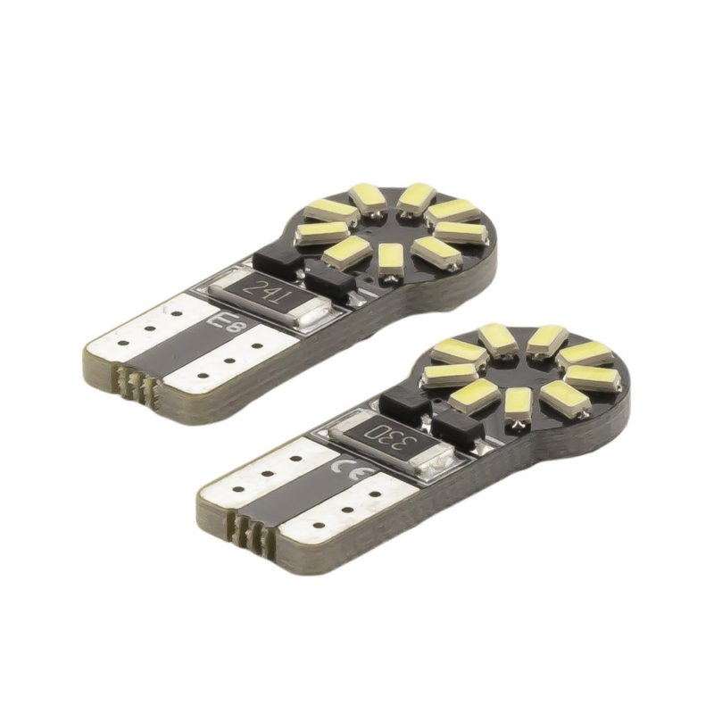 Autós LED - CAN126 - T10 (W5W) - 180 lm - can-bus - SMD 3W - 2 db / bliszter