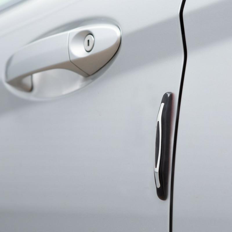 Univerzális ajtóélvédő - gumi, krómozott - 4 db / csomag